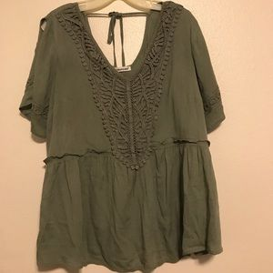 Maurices Top w/ Slit Sleeves